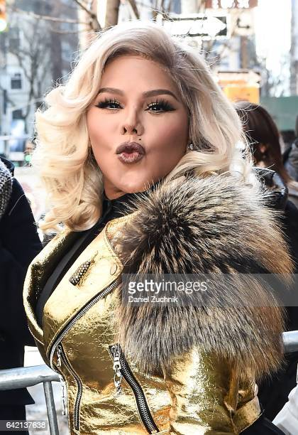 Lil Kim is seen outside the Marc Jacobs show during New York Fashion Week Women's Fall/Winter 2017 on February 16 2017 in New York City