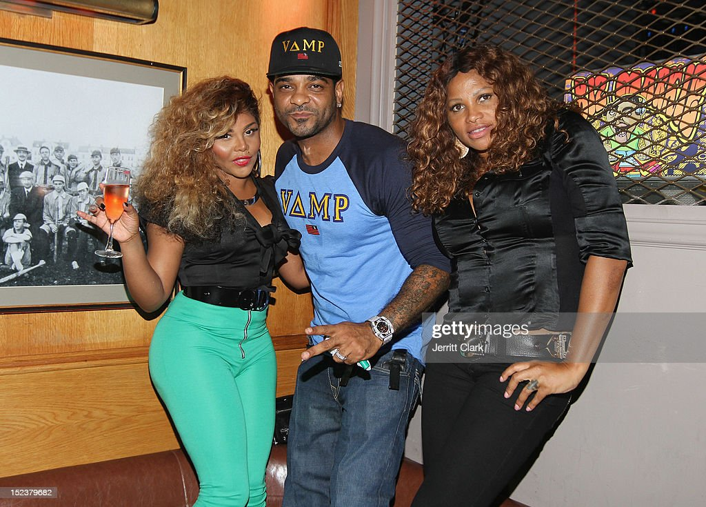 Lil Kim, Jim Jones and Sandra 'Pepa' Denton attend the 1 year anniversary party at Bounce Sporting Club on September 19, 2012 in New York City.