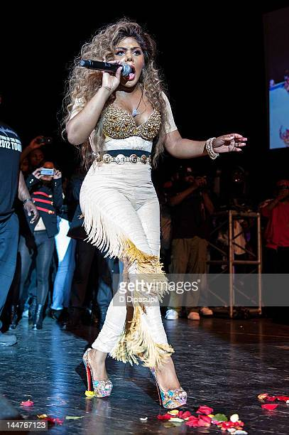 Lil' Kim performs at Paradise Theater on May 18 2012 in New York City