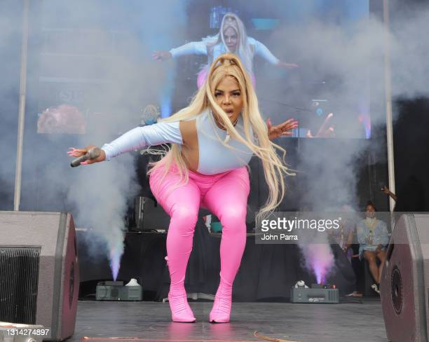 Lil' Kim performs at the 16th Annual Florida AIDS Walk & Music Festival at Fort Lauderdale Beach Park on April 24, 2021 in Fort Lauderdale, Florida.