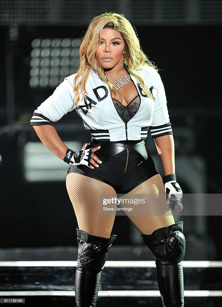 Lil' Kim performs at the Bad Boy Family Reunion Tour at ORACLE Arena on September 30, 2016 in Oakland, California.
