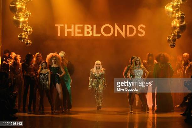 Lil' Kim performs on the runway for The Blonds fashion show during New York Fashion Week The Shows at Gallery I at Spring Studios on February 12 2019...