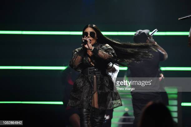 Lil Kim performs onstage during the 4th Annual TIDAL X Brooklyn at Barclays Center of Brooklyn on October 23 2018 in New York City