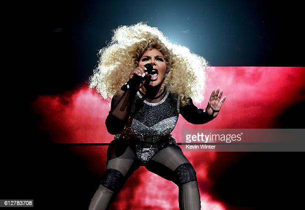 Lil' Kim performs onstage during the Bad Boy Family Reunion Tour at The Forum on October 4 2016 in Inglewood California