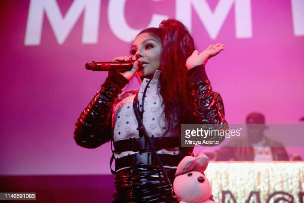 Lil' Kim performs onstage during the premiere of The Remix Hip Hop x Fashion at Tribeca Film Festival at Spring Studios on May 02 2019 in New York...