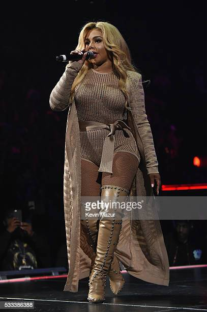 Lil Kim performs onstage during the Puff Daddy and The Family Bad Boy Reunion Tour presented by Ciroc Vodka and Live Nation at Barclays Center on May...