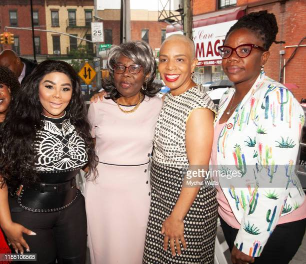 Lil Kim, Voletta Wallace, Laurie Cumbo NYC Council Majority leader and Alicka Ampry-Samuel NYC Council Member of the 41st District attend the...