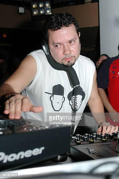 Lil Louie Vega spins at Crobar nightclub on March 23 2005 in Miami Beach Florida