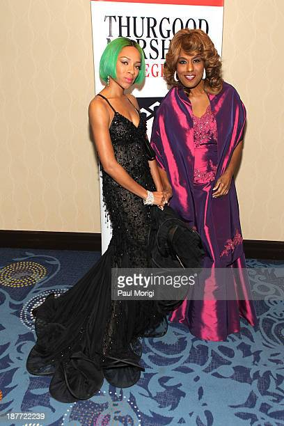 Lil Mama and Jennifer Holliday attend the Thurgood Marshall College Fund 25th Awards Gala on November 11 2013 in Washington City