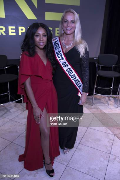 Lil Mama and Jillian Short attend 'When Love Kills The Falicia Blakely Story' screening at Newton White Mansion on August 14 2017 in Mitchellville...