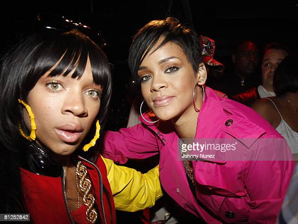 Lil Mama and Rihanna attend Chris Brown's 19th Birthday Party May 13 2008 at Rebel NYC in New York