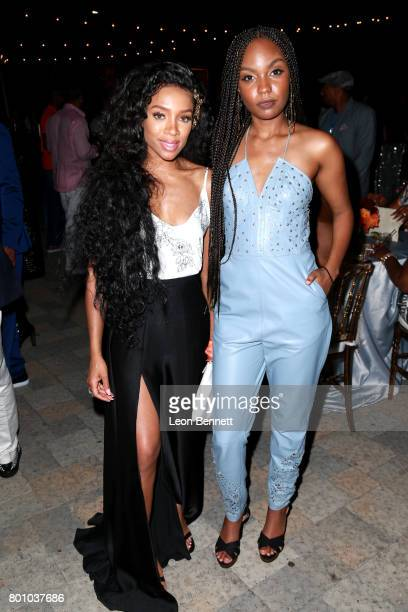Lil Mama and Sierra McClain attend the 2017 BET Awards Official After Party at Vibiana on June 25 2017 in Los Angeles California