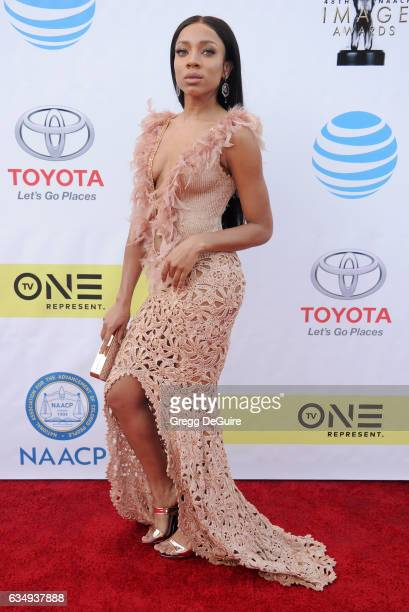 Lil Mama arrives at the 48th NAACP Image Awards at Pasadena Civic Auditorium on February 11 2017 in Pasadena California