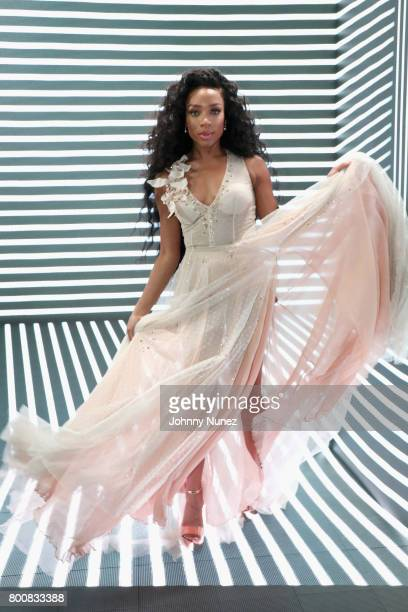 Lil Mama at the InstaBooth at the 2017 BET Awards at Microsoft Square on June 25 2017 in Los Angeles California