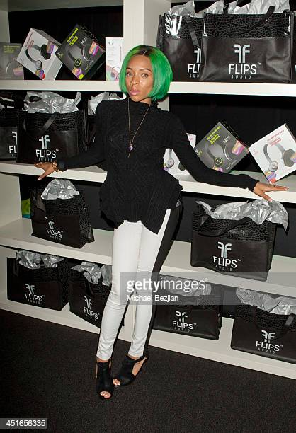 Lil' Mama attends Flips Audio Headphones Sponsors the Official Artist Gift Lounge Cumulus Radio Row At the American Music Awards Day 2 on November 23...