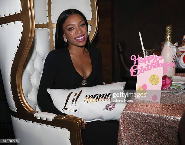 Lil Mama attends her birthday dinner on October 4 2016 in New York City