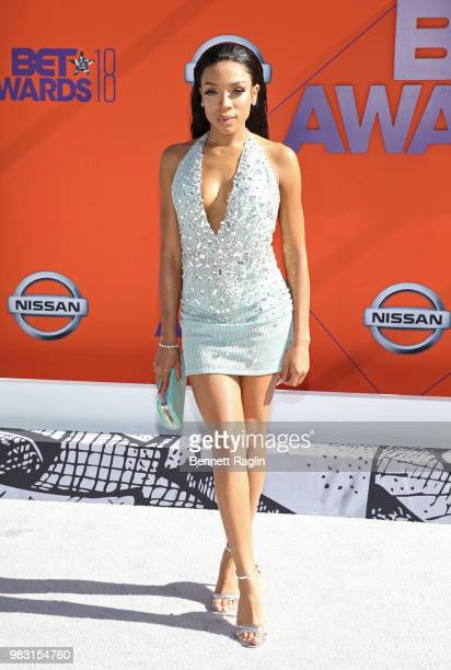 Lil Mama attends the 2018 BET Awards at Microsoft Theater on June 24 2018 in Los Angeles California