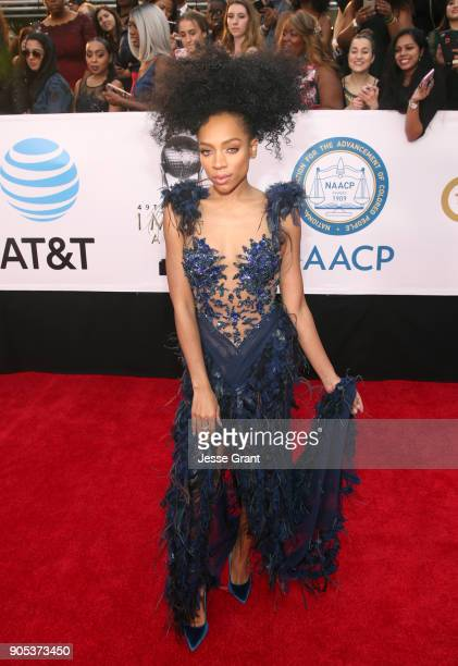 Lil Mama attends the 49th NAACP Image Awards at Pasadena Civic Auditorium on January 15 2018 in Pasadena California