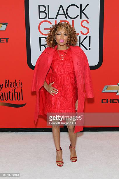 Lil Mama attends the BET's Black Girls Rock Red Carpet sponsored by Chevrolet at NJPAC – Prudential Hall on March 28 2015 in Newark New Jersey