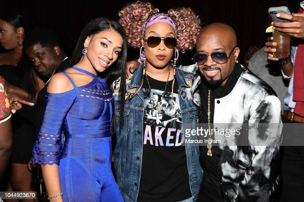 Lil Mama Da Brat and Jermaine Dupri attend WE tv Celebrates The Return Of Growing Up Hip Hop Atlanta at Club Tongue Groove on October 2 2018 in...
