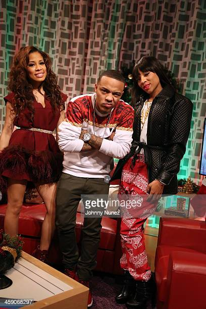 Lil Mama visits BET's '106 Park' with hosts Keshia Chante and Bow Wow at BET Studios on December 19 2013 in New York City