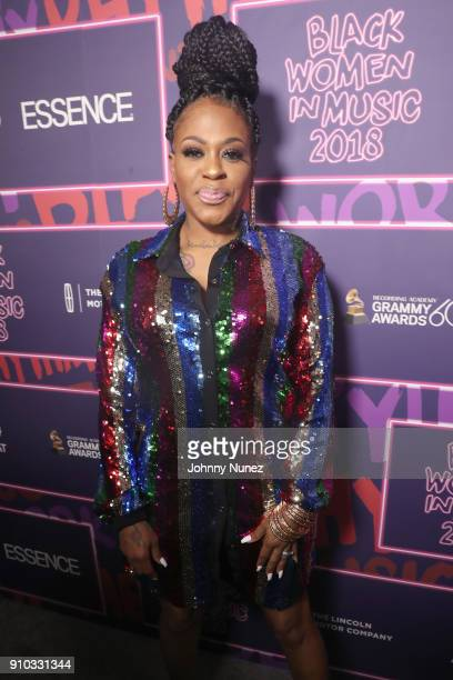 Lil' Mo attends the Essence 9th annual Black Women in Music at Highline Ballroom on January 25 2018 in New York City