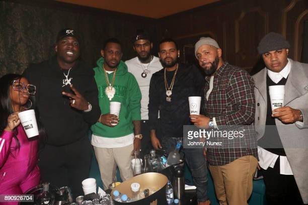 Lil Mo Casanova Fabolous Dave East Boo Rossini Marcus 'Ike' Ferrer and Lenny S attend the Jeezy 'Pressure' Album Listening Party at Avenue on...