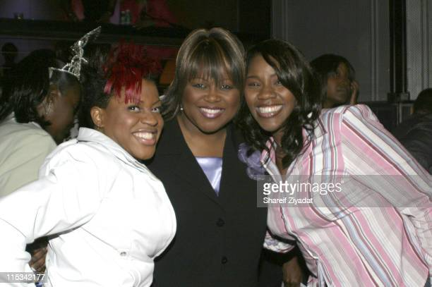 Lil Mo Guest and Kelly Price during Sister to Sister Anniversary Party at Crobar in New York United States