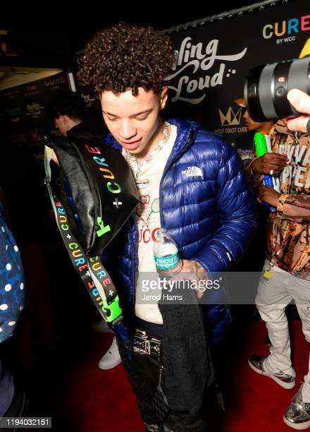 Lil Mosey attends Rolling Loud Fueled by West Coast Cure Los Angeles 2019 Day 1 on December 14 2019 in Los Angeles California
