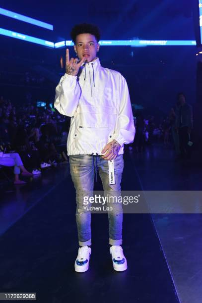 Lil Mosey attends the Vfiles front row during New York Fashion Week The Shows at Barclays Center on September 05 2019 in New York City
