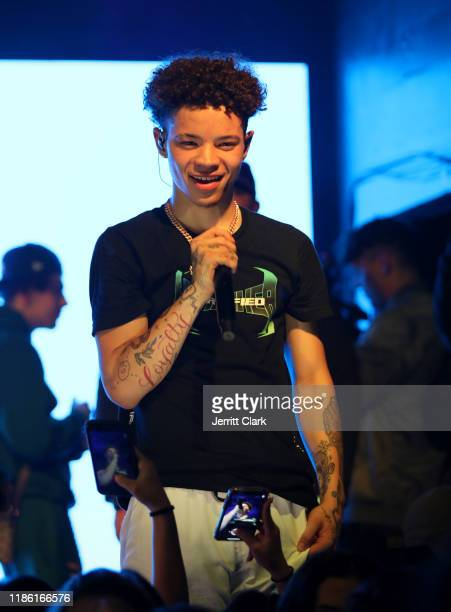 Lil Mosey performs at his 'Certified Hitmaker' Fan Only Experience at The Echo on November 06 2019 in Los Angeles California