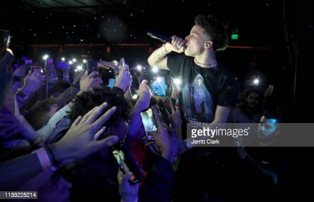 Lil Mosey performs at The Novo by Microsoft on March 01 2019 in Los Angeles California
