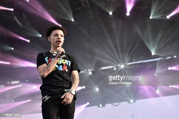 Lil Mosey performs live during Rolling Loud music festival at Citi Field on October 13 2019 in New York City