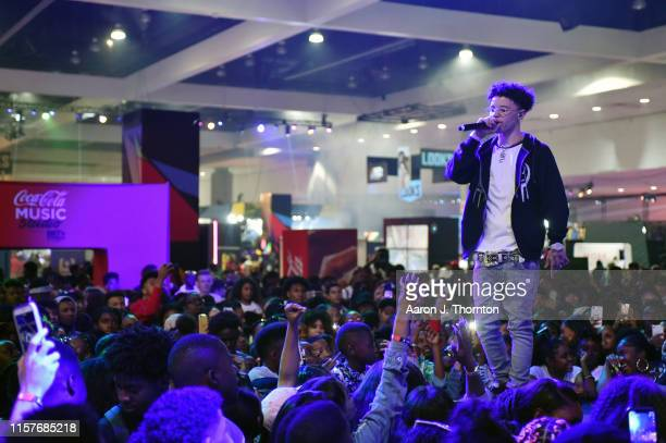 Lil Mosey performs onstage at the CocaCola Music Stage during the BET Experience at Los Angeles Convention Center on June 22 2019 in Los Angeles...