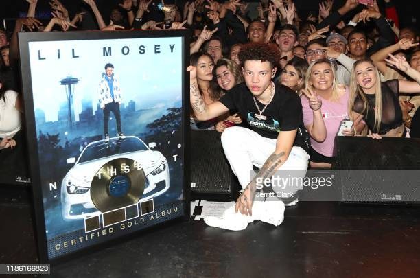Lil Mosey receives a Gold Plaque for 500000 units sold of his Interscope Records album 'Northsbest' during his 'Certified Hitmaker' Fan Only...