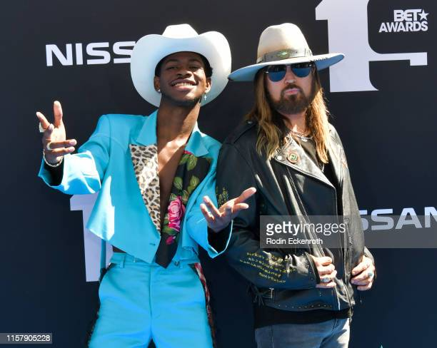 Lil Nas X and Billy Ray Cyrus attend the 2019 BET Awards on June 23 2019 in Los Angeles California