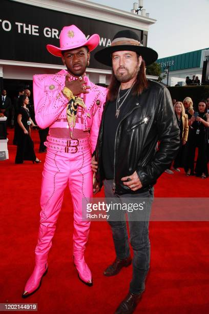 Lil Nas X and Billy Ray Cyrus attend the 62nd Annual GRAMMY Awards at STAPLES Center on January 26 2020 in Los Angeles California