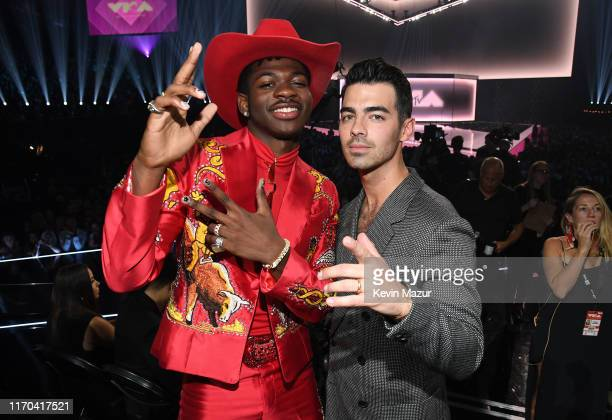 Lil Nas X and Joe Jonas attend the 2019 MTV Video Music Awards at Prudential Center on August 26 2019 in Newark New Jersey