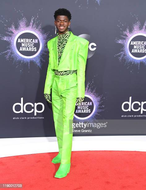 Lil Nas X arrives at the 2019 American Music Awards at Microsoft Theater on November 24 2019 in Los Angeles California