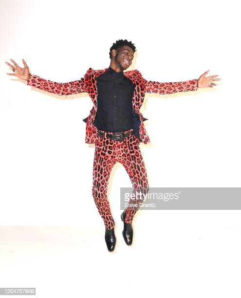 Lil Nas X arrives at the Tom Ford AW20 Show at Milk Studios on February 07 2020 in Hollywood California