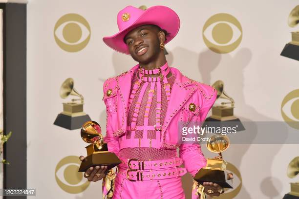 Lil Nas X attends the 62nd Annual Grammy Awards Press Room at Staples Center on January 26 2020 in Los Angeles California