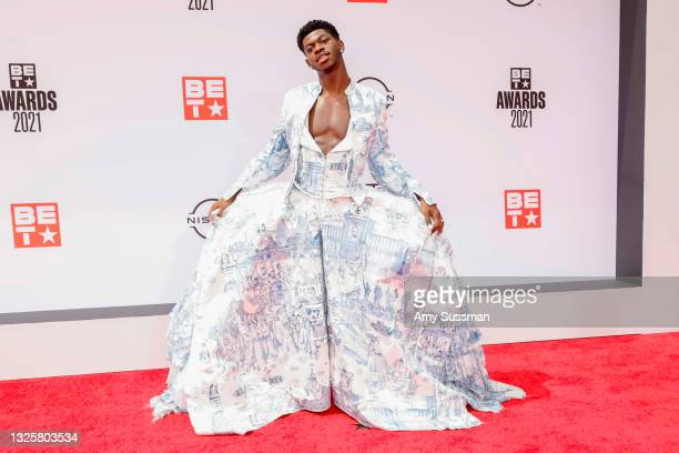 Lil Nas X attends the BET Awards 2021 at Microsoft Theater on June 27, 2021 in Los Angeles, California.