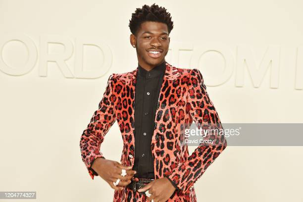 Lil Nas X attends the Tom Ford AW/20 Fashion Show at Milk Studios on February 07 2020 in Los Angeles California