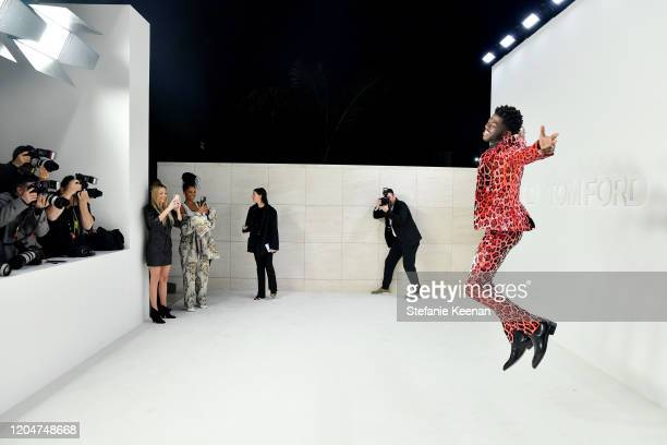 Lil Nas X attends Tom Ford Autumn/Winter 2020 Runway Show at Milk Studios on February 07 2020 in Los Angeles California