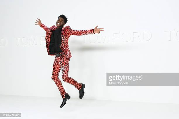 Lil Nas X attends Tom Ford AW20 Show at Milk Studios on February 07 2020 in Hollywood California