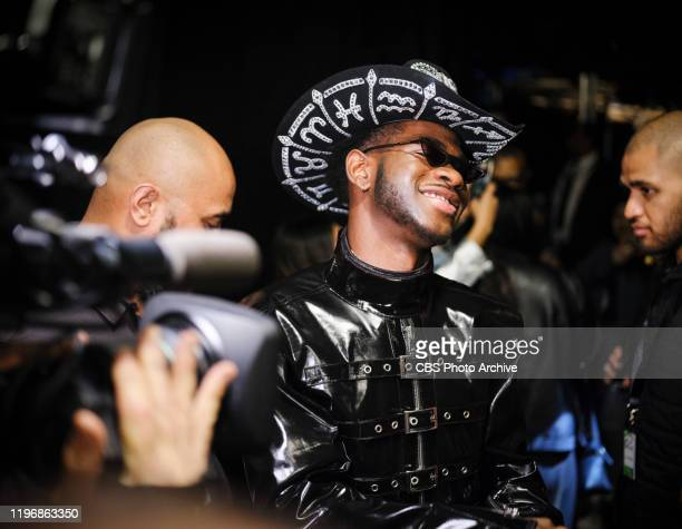 Lil Nas X backstage at THE 62ND ANNUAL GRAMMY® AWARDS, broadcast live from the STAPLES Center in Los Angeles, Sunday, January 26, 2020 on the CBS...