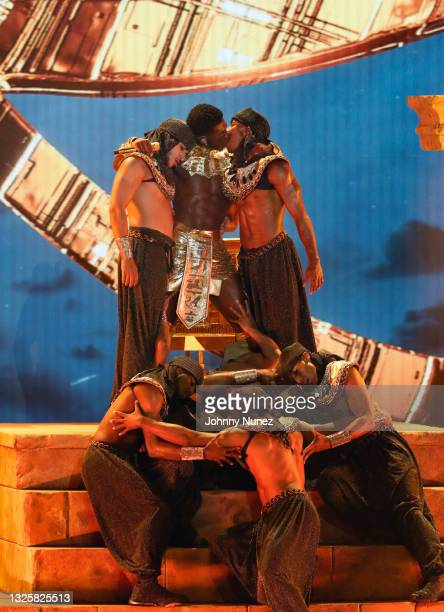 Lil Nas X performs onstage at the BET Awards 2021 at Microsoft Theater on June 27, 2021 in Los Angeles, California.
