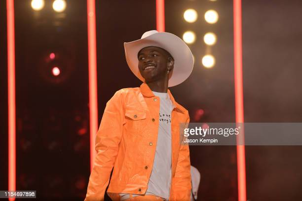 Lil Nas X performs onstage during day 3 of the 2019 CMA Music Festival on June 8 2019 in Nashville Tennessee