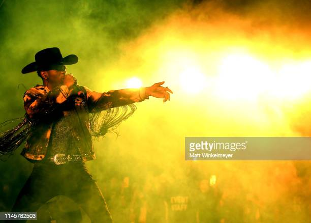 Lil Nas X performs onstage during the 2019 Stagecoach Festival at Empire Polo Field on April 28 2019 in Indio California