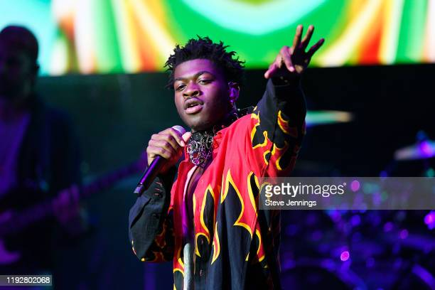 Lil Nas X performs onstage during WiLD 94.9's FM's Jingle Ball 2019 at The Masonic Auditorium on December 08, 2019 in San Francisco, California.
